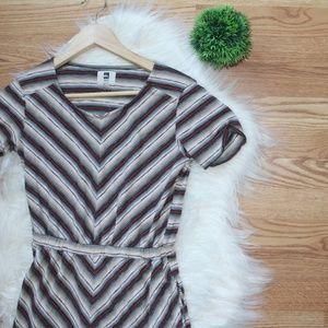Quiksilver Orange Stripe Dress XS